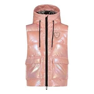 Babt You Look So Cool liivi, HOH Pysy tyylikkäänä viileällä säällä! Tämä lämmin toppaliivi tuo metallisen pinkkiä loistoa harmaisiin päiviin.
