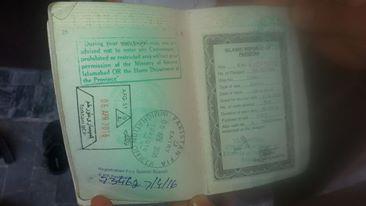 passport afghan visitor