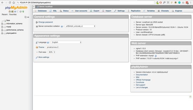 phpmyadmin-dashboard