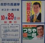 総選挙投票日…長野市長選・市議補選始まる