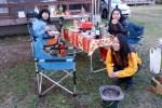 戸隠キャンプ場で「コテージ」キャンプ