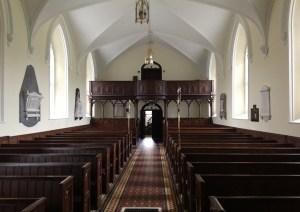 Inside Nun's Cross Church view from altar