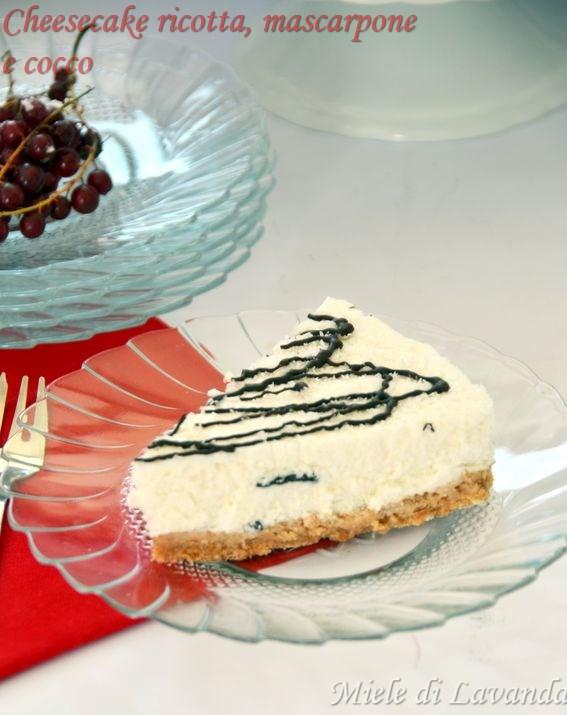 Cheesecake ricotta mascarpone e cocco