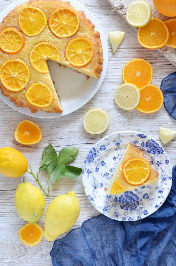 Soffice torta rovesciata all' arancia