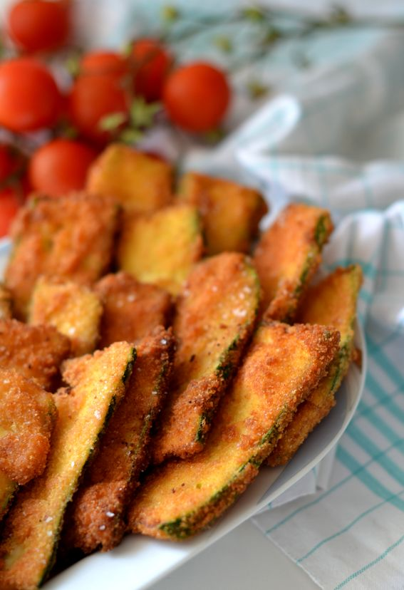 Zucchine profumate e fritte