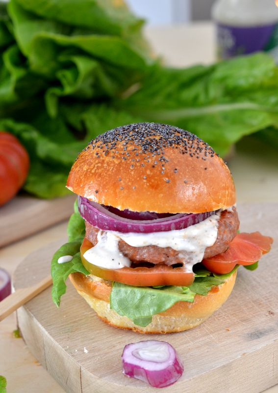 Panini per hamburger realizzati con pasta madre