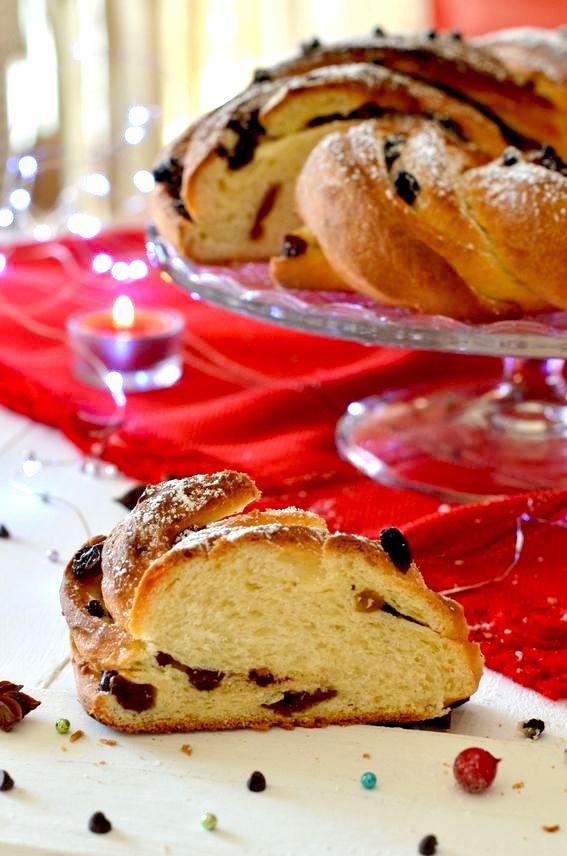 Angelica con gocce di cioccolato ed uvetta sultanina