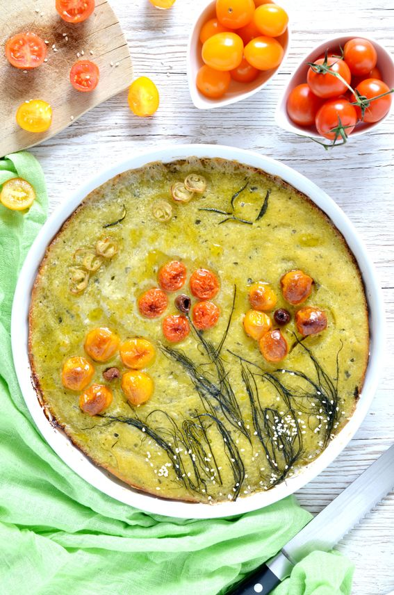 Focaccia primavera soffice con zucchine