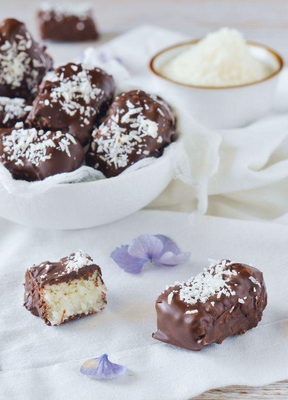 Bounty fatti in casa ovvero barrette di cocco e cioccolato