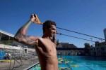 Anthony Ervin elastici allenamento nuoto a secco FINIS swimmershop