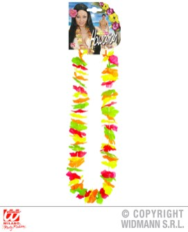 Collana hawaiana multicolore fluorescente - cod. 9128E - 1,50 €