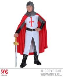 Crociato - casacca lunga, pantaloni, cintura,bracciali, elmo - cod. 5549