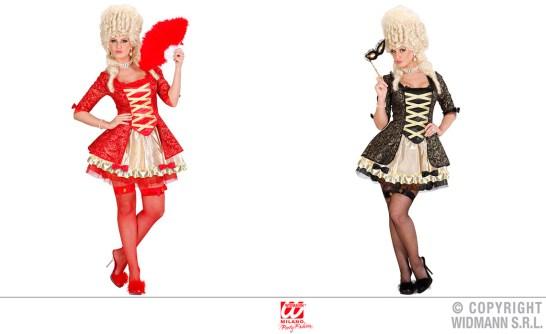 Dama barocca - vestito, sottogonna, calze a rete autoreggenti - cod. 7038 / 7039