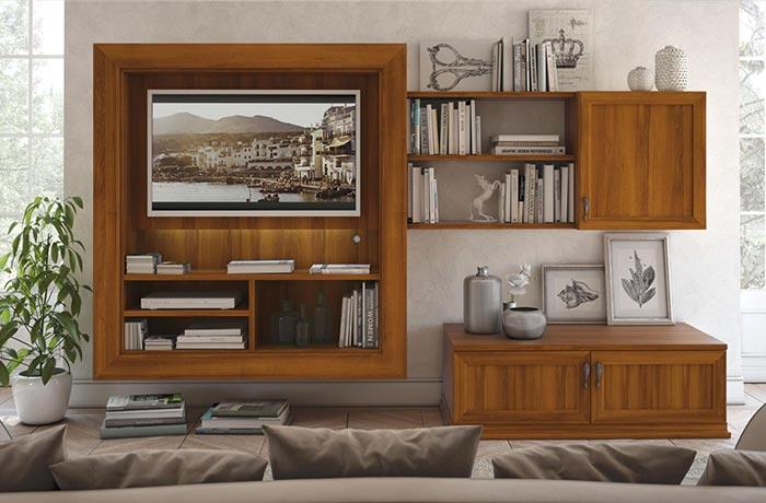 Scarica questo foto premium su interni lussuosi di soggiorno in stile contemporaneo con unità tv, divano, poltrone, tavolino e tavolo da pranzo con cucina. Arredamento Contemporaneo Mobili Contemporanei Camera Soggiorno