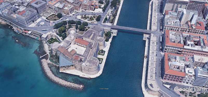 Castello aragonese, taranto, google maps