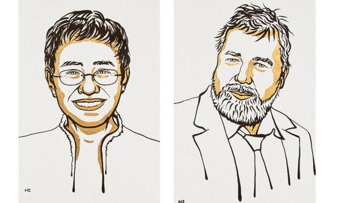 Il Nobel per la Pace va a due ai giornalisti che si battono per la libertà di espressione