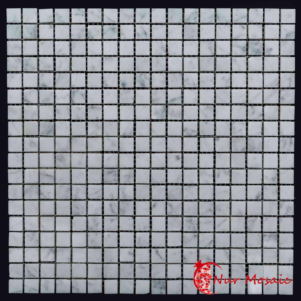 italian white carrara marble mosaic tile nurmosaic