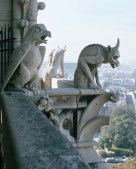 3 Gargoyles in Paris, devil, satan -Jul-5-2012