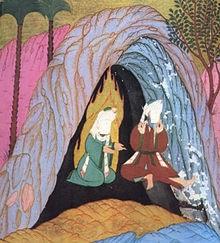 Abu_Bakr_and_Muhammad_in Cave of Thaur_(Siyer-i-Nebi_1595_n.Chr.)1