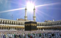 Kabah - sun shining on it - old