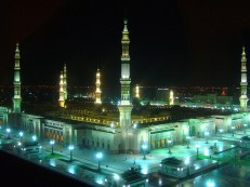 Madina at ul Munawera - City of Light at night