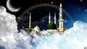 Madina e Sharif on top of clouds