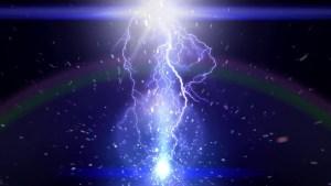 Purple Light Sound Emanating From Thunder Parable God's Speech