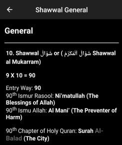 Shawwal General Muhammadan Way App 2