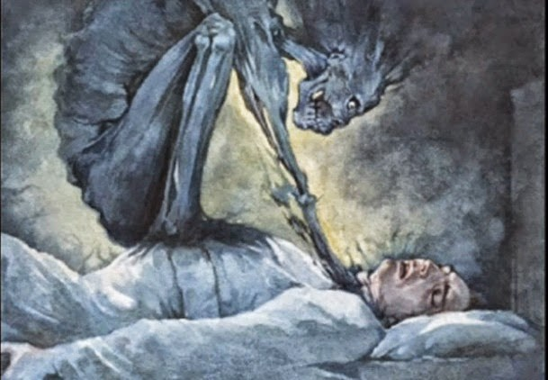 Sleep Paralysis – jinn, monster, devil, sitting on man's chest, satan