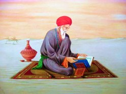 Sufi saint reading book, writing,desert,sufi,saint,kitab,writing
