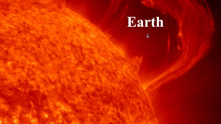 Sun`s size compared to  Earth