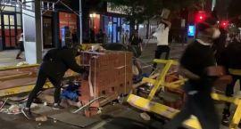 Violent Protest Bricks Thrown