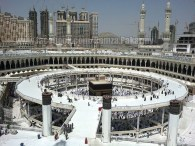 Busy kabbah, bridges around kaabah, tawwaf, Mecca, Makkah
