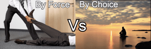 by force by choice