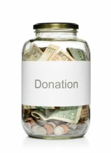 donation jar of money