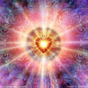 heart – nucelus – sun graphic energy