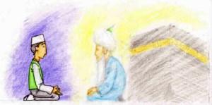 meditation with shaykh, muraqabah, nazar, mureed, shaykh, rabita