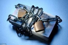 money locked up, lack of generosity, not donating