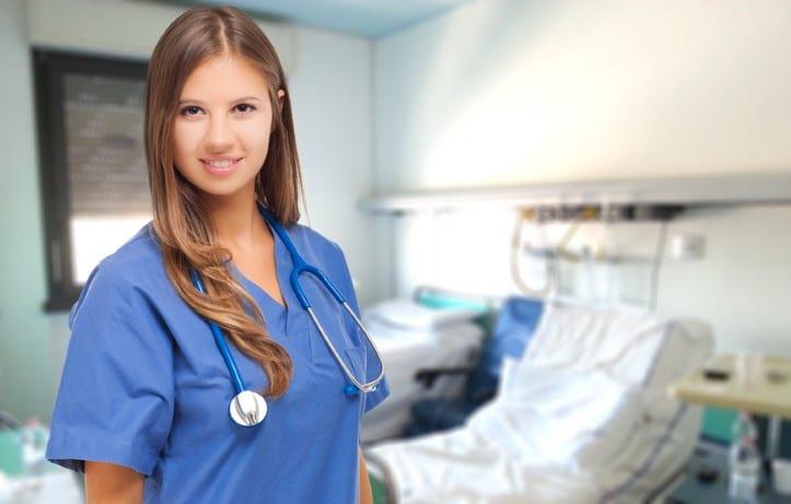 Nurse in a hospital room