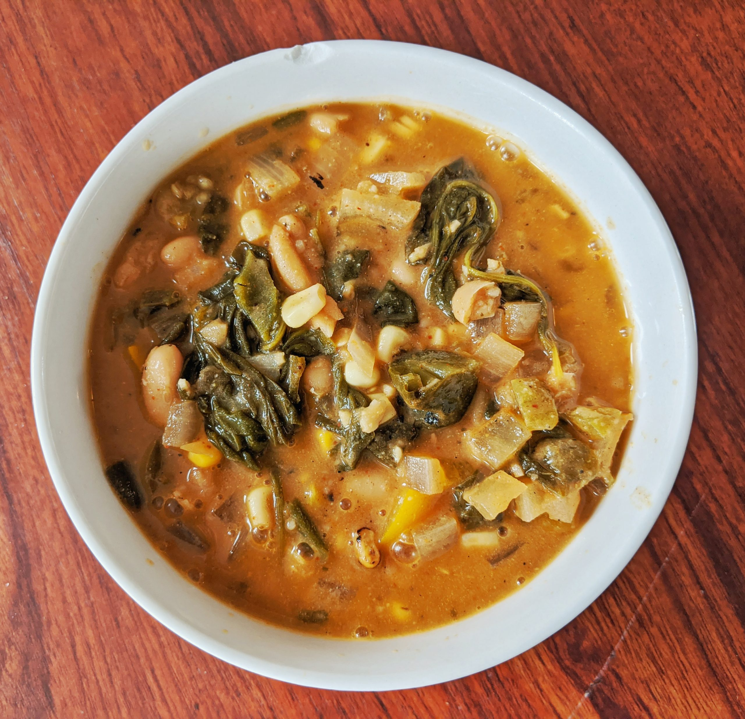 Roasted Poblano Pepper and White Bean Chili