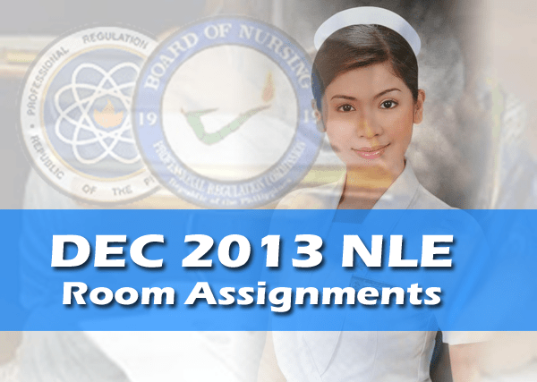 Room Assignments – December 2013 NLE