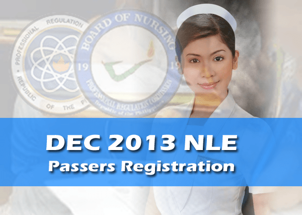 Manila and Pampanga – PRC Registration for Dec 2013 NLE passers