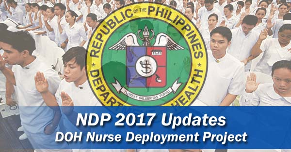 DOH NDP 2017 Application updates