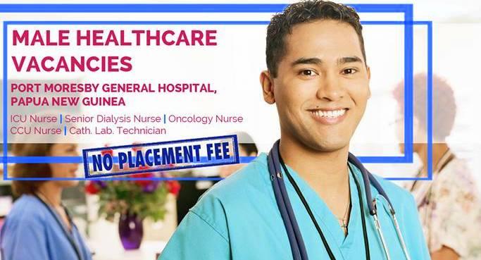 Papua New Guinea hospital needs male nurses, salary up to P61,600 monthly
