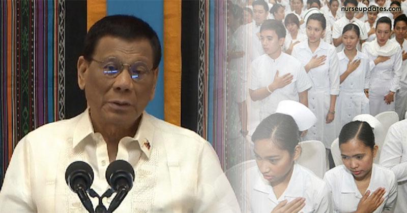 Duterte wants salary increase for nurses thru new SSL