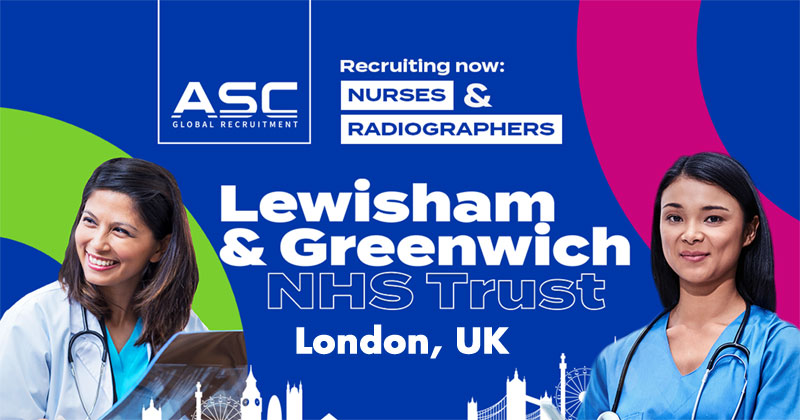 ASC Global Recruitment hiring 100 nurses, radiographers for London