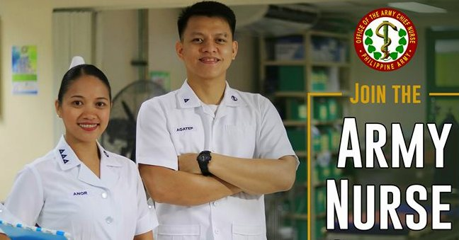 Philippine Army hiring nurses, starting salary at P45,000+ monthly