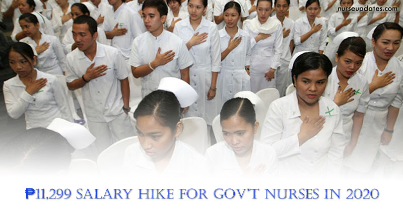 Gov't nurses to get ₱11,299 salary increase in 2020
