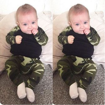 infant camouflage cloth