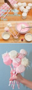 pink and white marshmallow